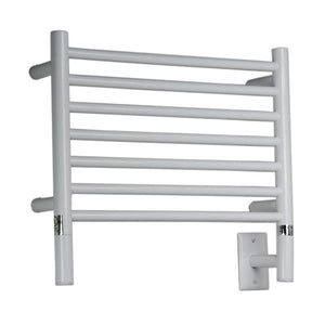 Amba H Straight 7 Bar Towel Warmer, White