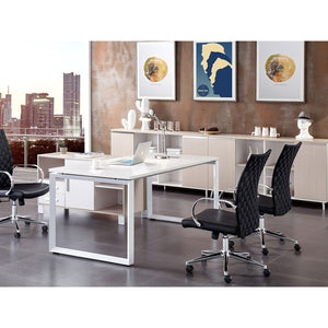 CUBES Black Arm Office Chair by Casabianca Home