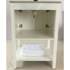Bellaterra 24 In Single Sink Vanity Manufactured Wood White 9006-24-WH