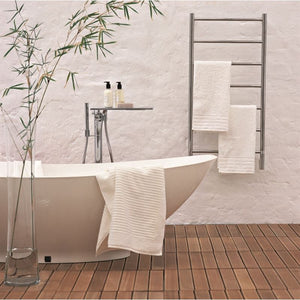 Amba F Straight 7 Bar Towel Warmer, Polished