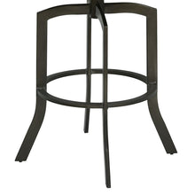 "Load image into Gallery viewer, Studio 26"" Counter Height Metal Swivel Barstool in Ford Black Pu and Mineral Finish"