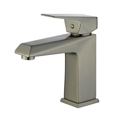 Valencia Single Handle Bathroom Vanity Faucet in Brushed Nickel