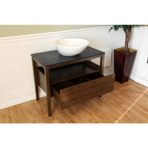 Bellaterra 35.5 In Single Sink Vanity Wood Dark Walnut