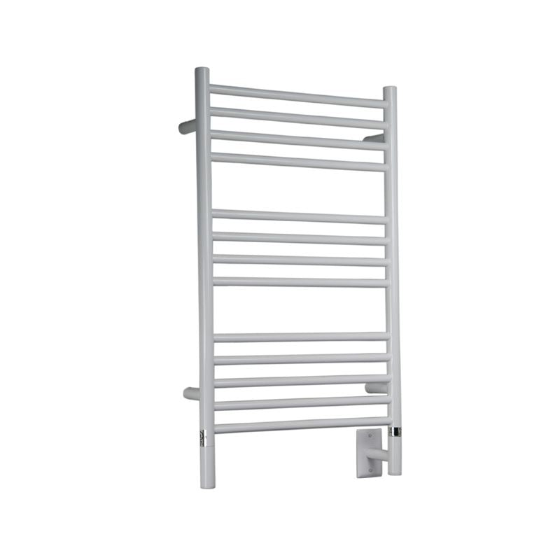Amba C Straight 13 Bar Towel Warmer, White