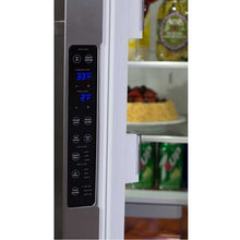 "Load image into Gallery viewer, 36"" Marvel Elise Series French Door Counter Depth Refrigerator, Matte Black"