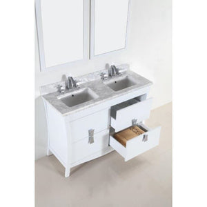 Bellaterra 48 In. Double Sink Vanity With Black Galaxy Top 500701-48D-WC