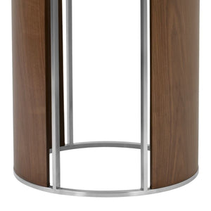 "Justin 30"" Bar Height Barstool in Brown Powder Coated Finish"
