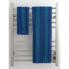 Load image into Gallery viewer, Amba Radiant Square Hardwired 10 Bar Towel Warmer, Brushed