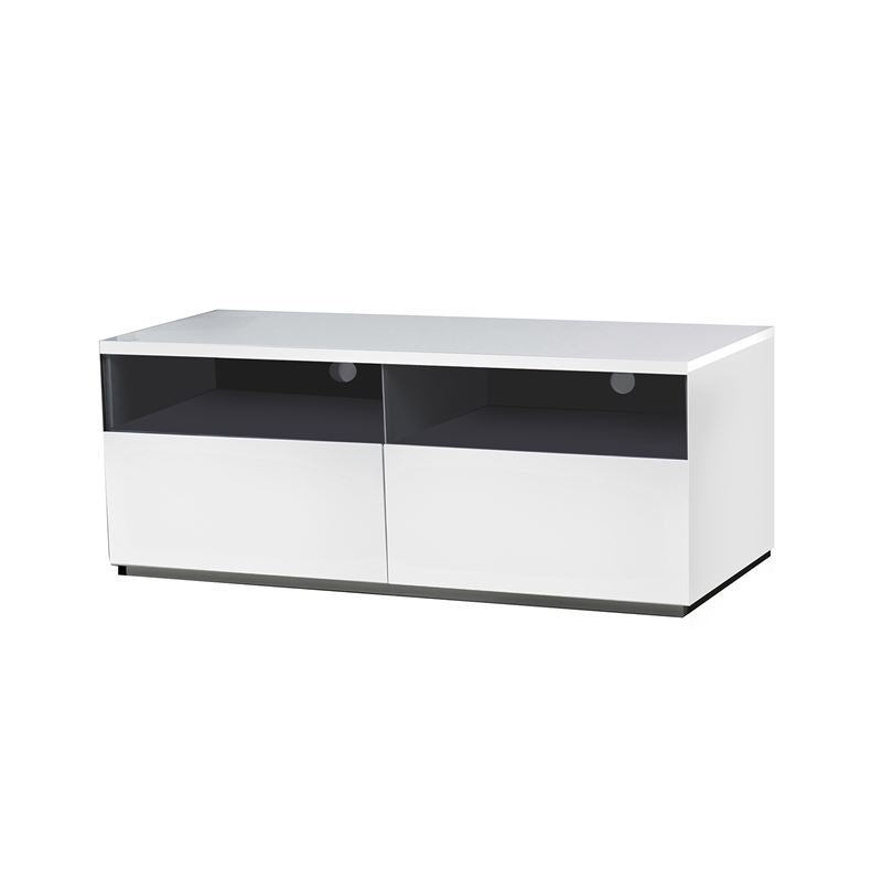 CRISTALLINO High Gloss White Lacquer Entertainment Center by Casabianca Home