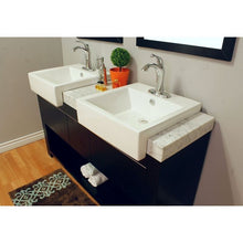 Load image into Gallery viewer, Bellaterra 57.75  In Double Sink Vanity Wood Black 804375A-BL