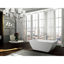 Load image into Gallery viewer, Livorno 59 inch Freestanding Bathtub in Glossy White