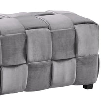 Load image into Gallery viewer, Raven Contemporary Long Ottoman in Gray Velvet