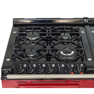 AGA Dual Fuel Module, Propane (LP) Gas Cooktop BLACK
