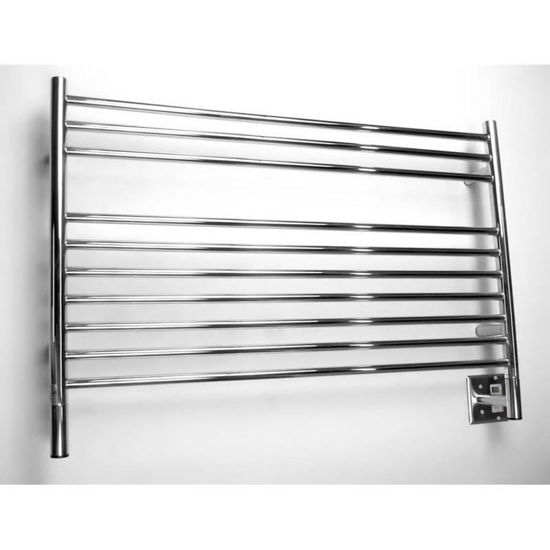Amba L Straight 10 Bar Towel Warmer, Polished