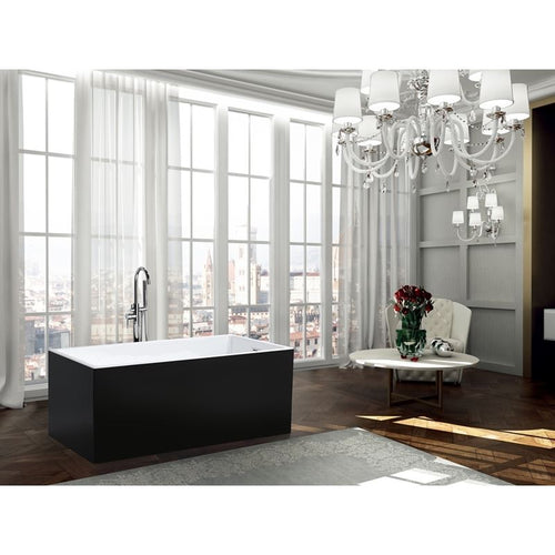 Brindisi 59 inch Freestanding Bathtub in Glossy Black