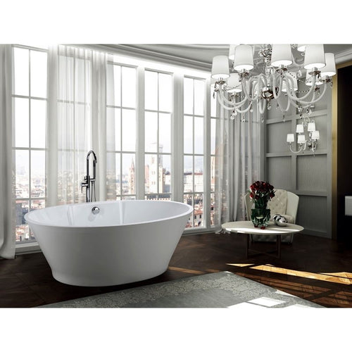 Lecce 67 inch Freestanding Bathtub in Glossy White