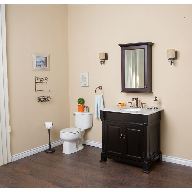 Bellaterra 36 In Single Sink Vanity Wood Espresso