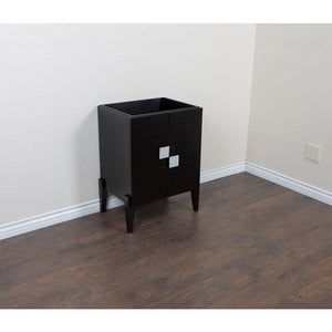 Bellaterra 25 In Single Sink Vanity Wood Black