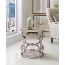 Load image into Gallery viewer, Tuxedo Round End Table with Gray Finish and Gray Top