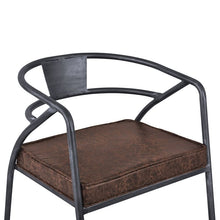 Load image into Gallery viewer, Paisley Modern Dining Chair in Industrial Grey Finish and Brown Fabric - Set of 2