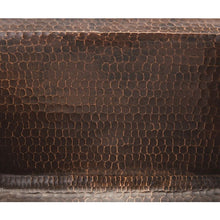 "Load image into Gallery viewer, Rectangle Copper Prep Sink w/ 3.5"" Drain Size"