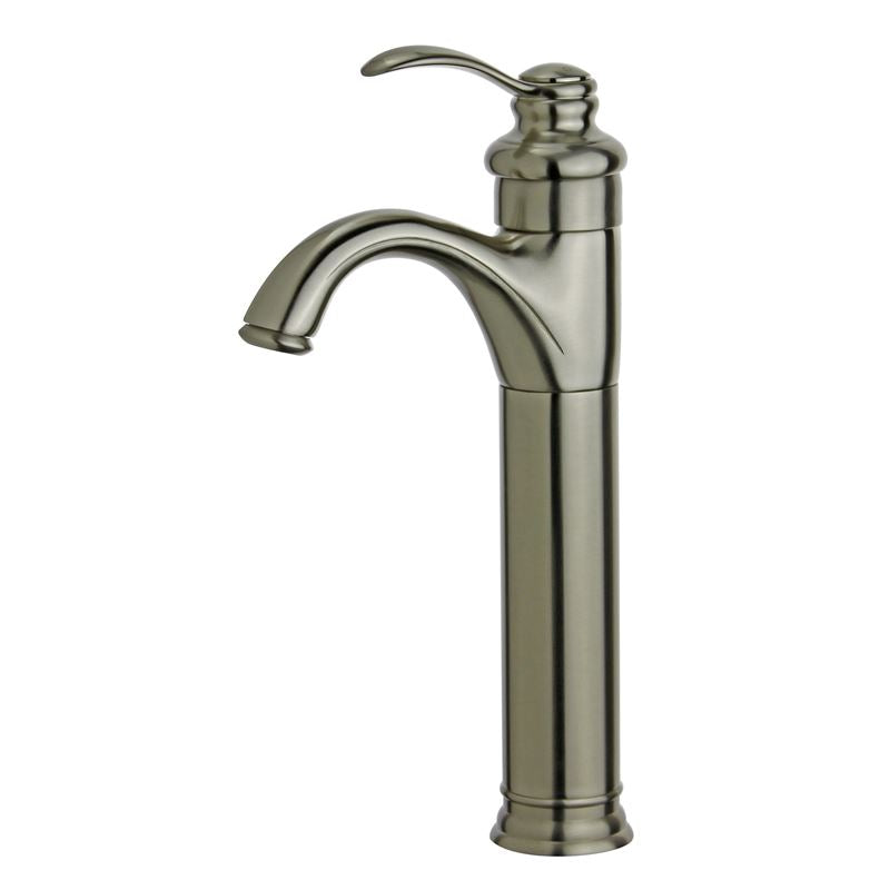 Madrid Single Handle Bathroom Vanity Faucet in Brushed Nickel