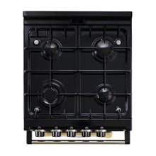 Load image into Gallery viewer, AGA City24 Dual Fuel Cast Iron Range with Gas Burners CREAM