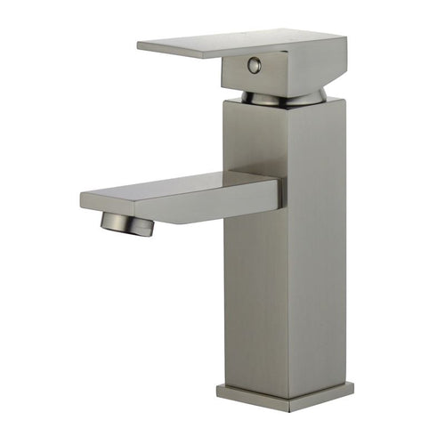 Granada Single Handle Bathroom Vanity Faucet in Brushed Nickel