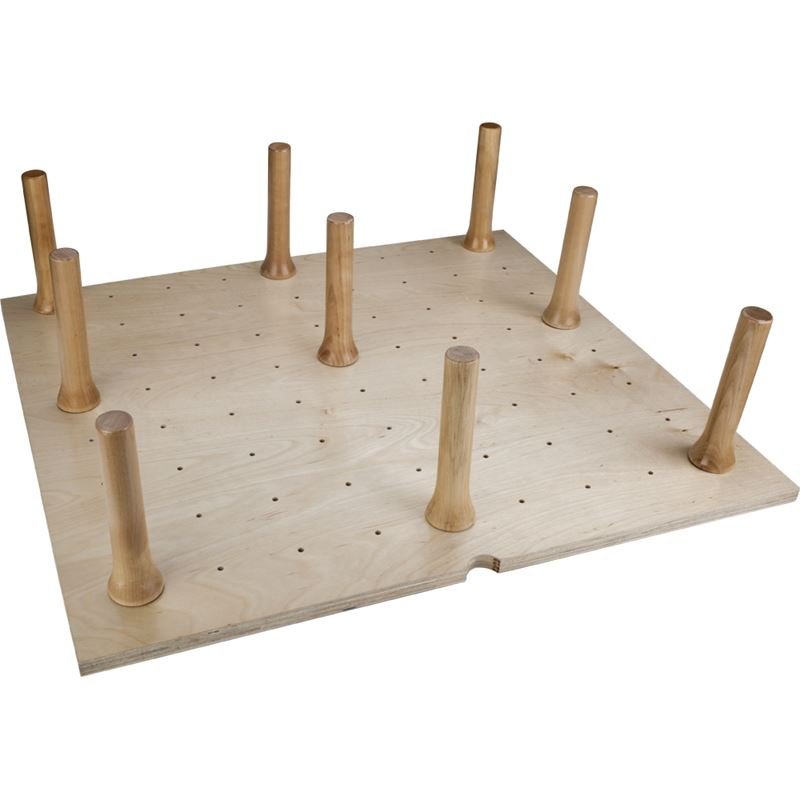 Peg Board Drawer Insert with 12 Pegs 30-1/4