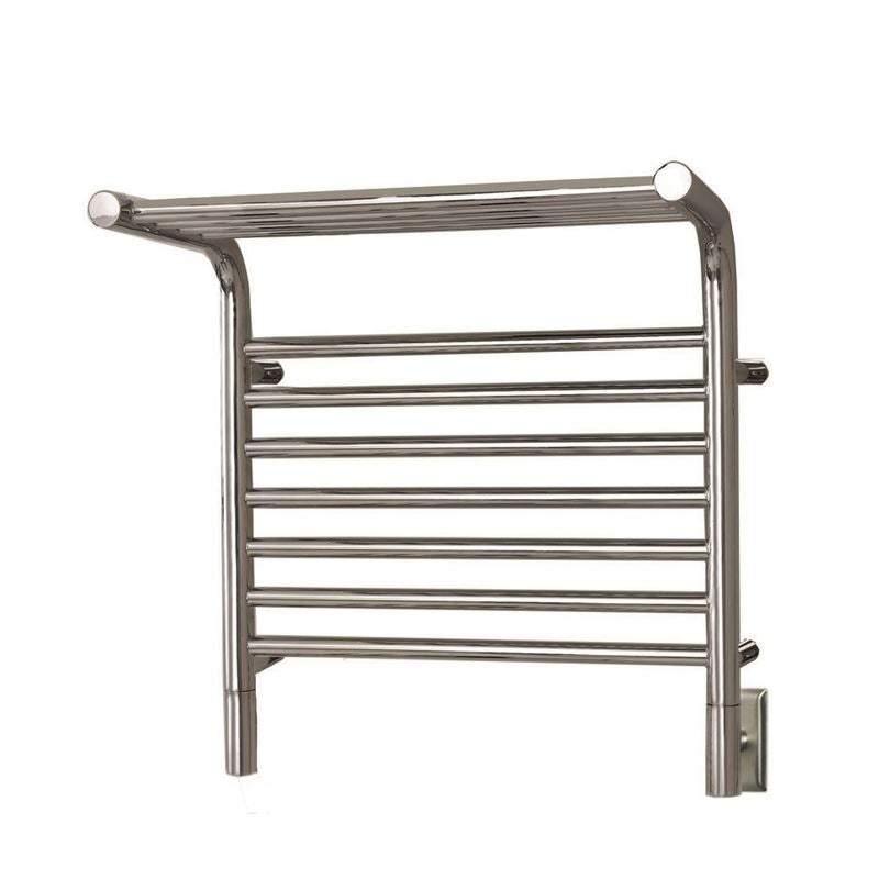 Amba M Shelf Straight 11 Bar Towel Warmer, Polished