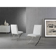 Load image into Gallery viewer, LOFT White Eco-Leather Dining Chair by Casabianca Home