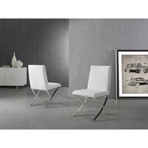 LOFT White Eco-Leather Dining Chair by Casabianca Home