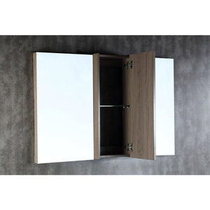 Bellaterra 48 In. Wood Framed Mirror With Cabinet