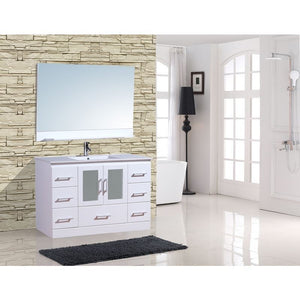 "Adornus Alva White 48"" Single Bathroom Vanity with mirror"