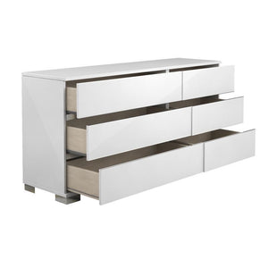 SPARK High Gloss White Lacquer Dresser by Talenti Casa