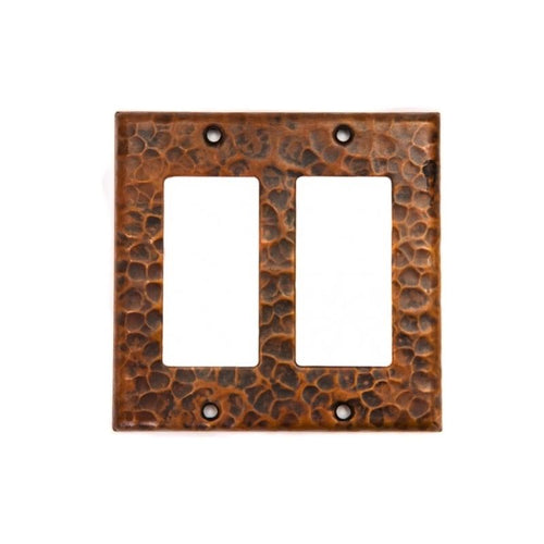 Copper Double Ground Fault/Rocker GFI Switchplate Cover