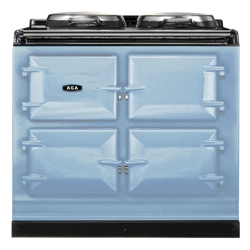 AGA Dual Control Cast Iron 3-Oven Dual Fuel Range DUCK EGG BLUE