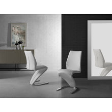 Load image into Gallery viewer, BOULEVARD White Eco-Leather Dining Chair by Casabianca Home