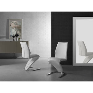 BOULEVARD White Eco-Leather Dining Chair by Casabianca Home