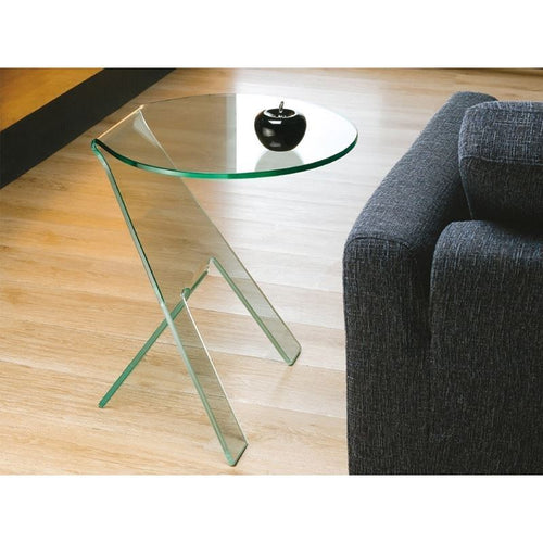 PASO Clear End Table by Casabianca Home