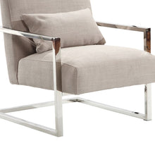 Load image into Gallery viewer, Skyline Modern Accent Chair In Gray Linen and Steel