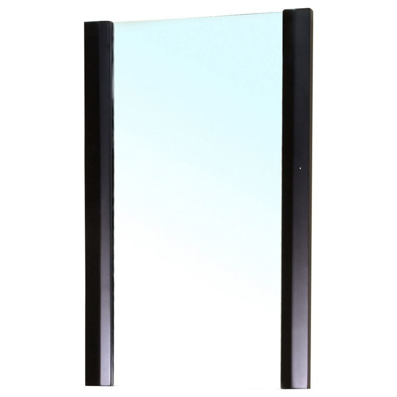 Bellaterra Solid Wood Frame Mirror Black 203102-MIRROR