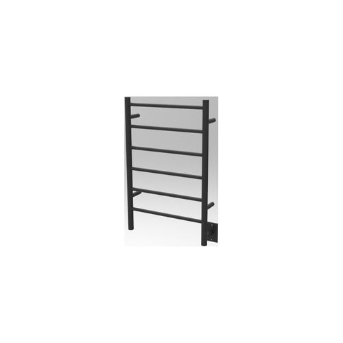 Amba J Straight 6 Bar Towel Warmer, Matte Black