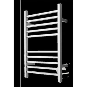 Amba Radiant Square Plug-In 10 Bar Towel Warmer, Polished