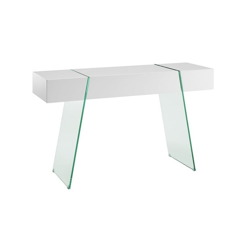 IL VETRO CABANA High Gloss White Lacquer Console Table by Casabianca Home