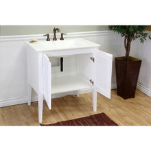 Load image into Gallery viewer, Bellaterra 33.5 In Single Sink Vanity Wood White