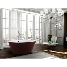 Load image into Gallery viewer, Prato 59 inch Freestanding Bathtub in Glossy Red