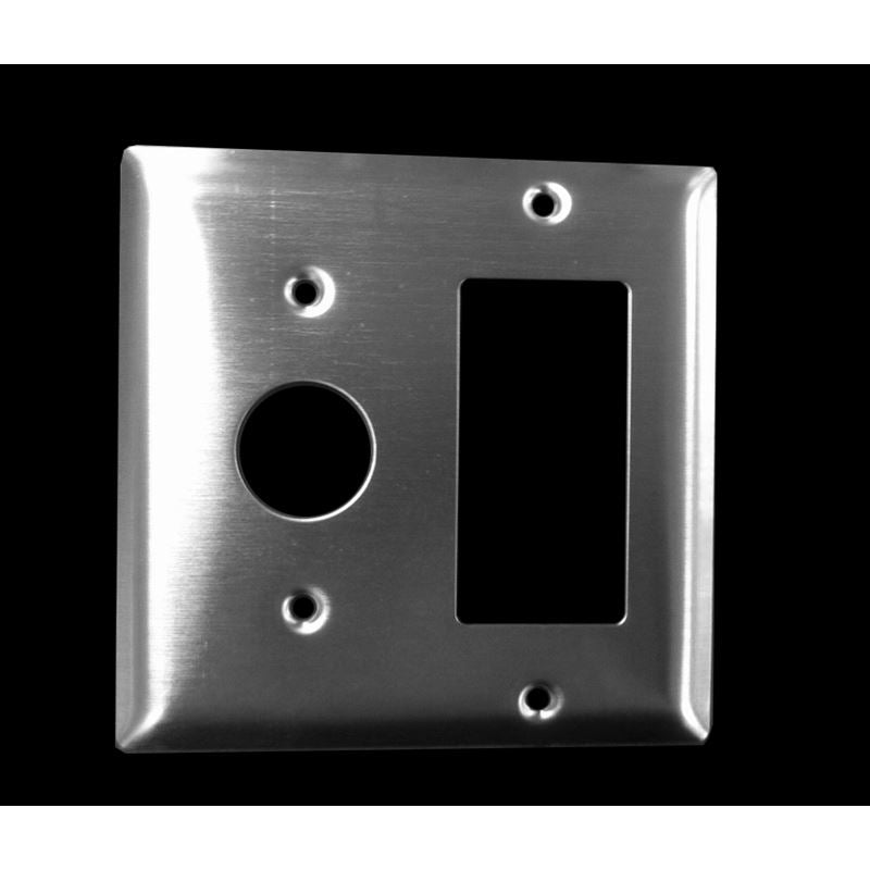Jeeves Double Gang Plate AJ-DGP-S Stainless Steel