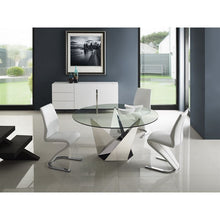 Load image into Gallery viewer, FIRENZE Stainless Steel / Clear Glass Dining Table by Casabianca Home