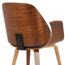 Load image into Gallery viewer, Tiffany Mid-Century Dining Chair in Charcoal Fabric with Walnut Veneer Finish